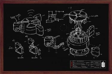 Doctor who chalk board - plakat