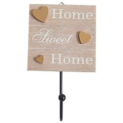 Wieszak drewniany home 10.5x16.5x4.5cm