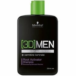 Schwarzkopf 3D MEN Root Activator, Szampon aktywizujący na porost włosów 250ml