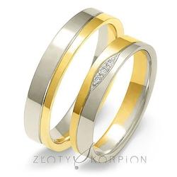 Obrączki ślubne dwukolorowe złoty skorpion – wzór au-a221