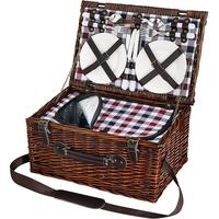 Wiklinowy kosz piknikowy dla 4 osób z komorą termiczną cilio varese ci-155259