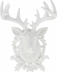 KARE Design :: Głowa Jelenia biała - wzór 2 biały