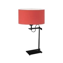 Lampka alaska abażur czerwony stelaż czarny - czerwony