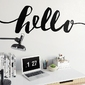 Hello - naklejka ścienna w skandynawskim stylu , kolor naklejki - czarna, wymiary naklejki - 200cm x 50cm