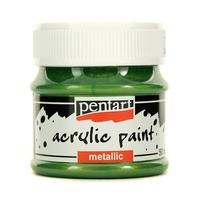 Farba akrylowa metaliczna 50 ml - zielona jasna - zieljas