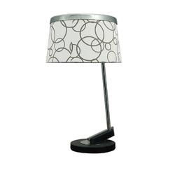 Lampka stołowa abażur z metalowym ringiem impresja candellux 41-45372