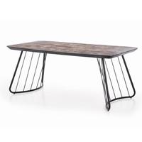 Dover stół loftowy ciemny popielczarny