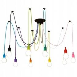 Kolorowa lampa loft żyrandol pająk oplot spider 10
