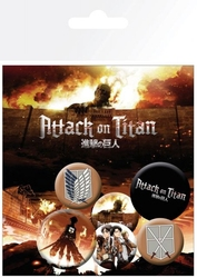 Attack on titan mix - przypinki
