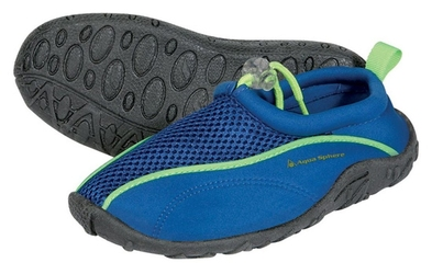 Aquasphere buty do wody lisbona jr niebiesko-limonkowe
