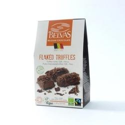 Belvas | flaked truffles czekoladki trufle gorzkie orzechowe | organic - fair trade