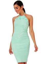 Sukienka na wesele | sukienka wieczorowa goddess, miętowa 1089