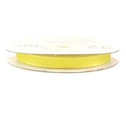 Wstążka szyfonowa 6mm32m - żółty - żół
