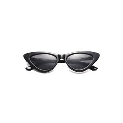 Kocie oczy przeciwsłoneczne damskie czarne matowe f-291g