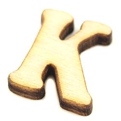 Drewniana literka do rękodzieła - K - K