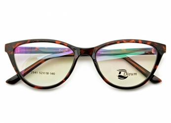 Oprawki okularowe pod korekcję kocie oko damskie st2941a panterka