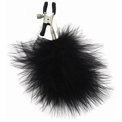 Sexshop - sm feathered nipple clamps – zaciski na sutki, z futerkiem - online