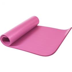 Mata do ćwiczeń fitness jogi duża 190x100x1,5cm antypoślizgowa różowa