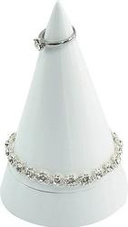 Stojak na biżuterię cone duży biały