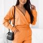 Dresowy komplet z dwustronną bluzką - pomarańczowy