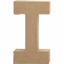 Litera z papier mache 20,5x2,5 cm - I - I