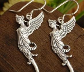 Elfice - srebrne kolczyki