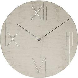 Zegar ścienny z podświetlaną tarczą galileo biały