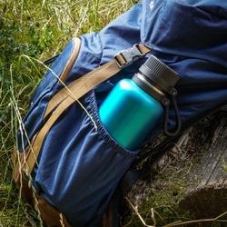Niebieska butelka izolowana, stalowa, 1 litr outdoor lurch lu-00240977