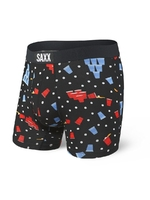 Bokserki męskie saxx vibe boxer brief black beer champs