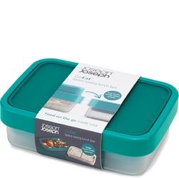 Lunchbox goeat space-saving joseph joseph turkusowy 81065