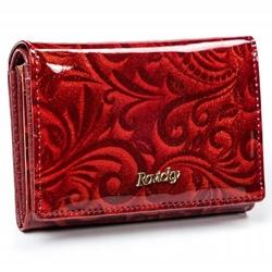 Zachwycający portfel damski skórzany hq rfid - czerwony