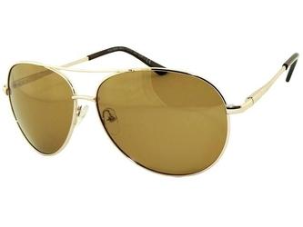 Polaryzacyjne okulary pilotki złoto-brązowe aviator 104