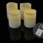 Zestaw 4 świec woskowych adwentowych led białych ze zdalnym sterowaniem czasowym