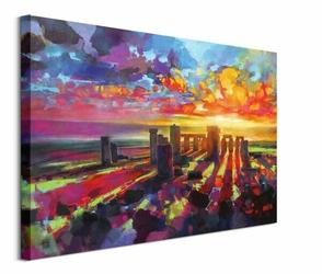 Kolorowe Stonehenge - obraz na płótnie