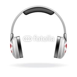 Naklejka samoprzylepna słuchawki wektorowe
