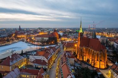 Wrocław, polska -plakat premium wymiar do wyboru: 70x50 cm