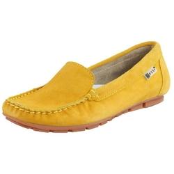 Zółte mokasyny damskie nessi cozabuty