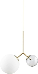 Lampa Twice mlecznobiały i przezroczysty klosz