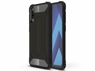 Etui Alogy Hard Armor do Samsung Galaxy A50 Czarne + Szkło - Czarny