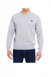 Sweter r-logo szary pierre cardin