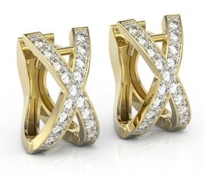 Kolczyki z żółtego złota z brylantami bp-84z - żółte  diament