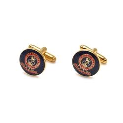 Eleganckie spinki do mankietów Hussars Blue w kolorze złotym