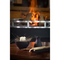 Miseczka do ryżu, czarna porcelana, equinoxe revol niebieskie wnętrze rv-649596-6