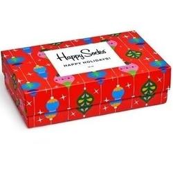 Grający giftbox świąteczny 3-pack skarpety happy socks - xmas08-4003
