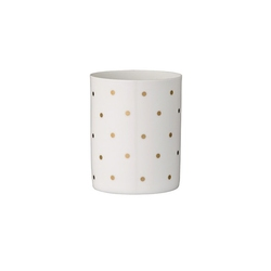 Świecznik na tealight złote kropeczki bloomingville