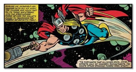 Thor fabric of infinity - obraz na płótnie