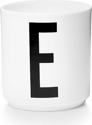 Kubek porcelanowy AJ litera E