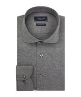 Elegancka szara koszula męska z dzianiny slim fit 46