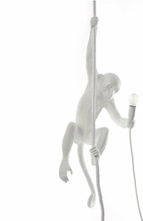 Lampa Monkey biała sufitowa wisząca