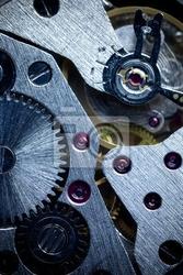 Naklejka macro mechaniczne gear  clockwork background